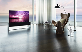 LG Electronics launches 'LG SIGNATURE OLED R', the world's first rollable TV
